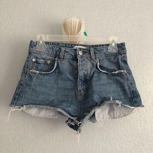 Zara Denim High-Rise Shorts